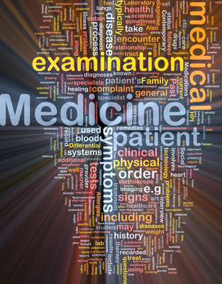 Medicine background concept glowing