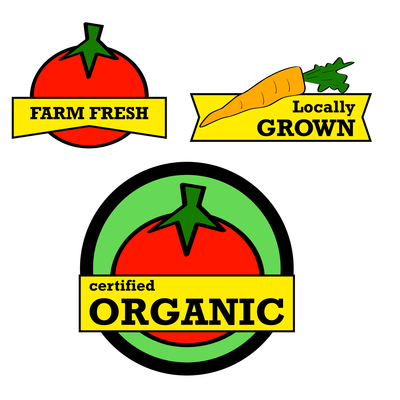 Fresh produce stickers